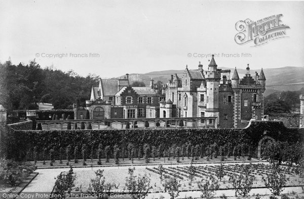 Photo of Abbotsford, From The Garden, Home Of Sir Walter Scott 1883