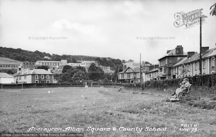 Photo of Aberaeron, Alban Square And County School c.1955