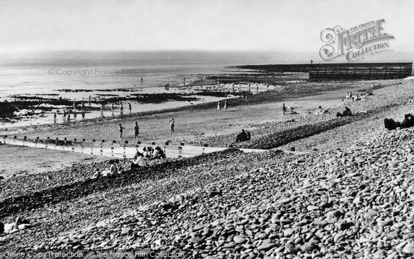 Photo of Aberaeron, Beach c.1955