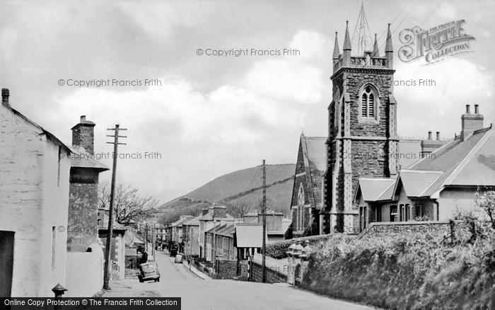 Photo of Aberaeron, Church And Main Road c.1950