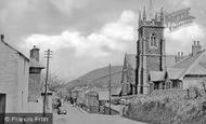 Aberaeron, Church And Main Road c.1950
