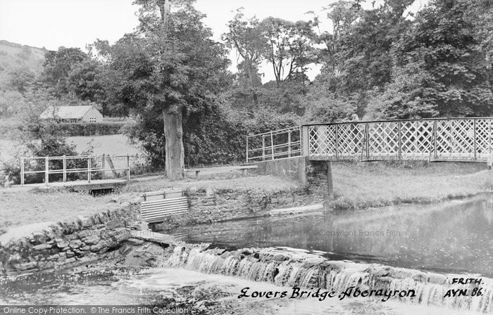 Photo of Aberaeron, Lovers' Bridge c.1955