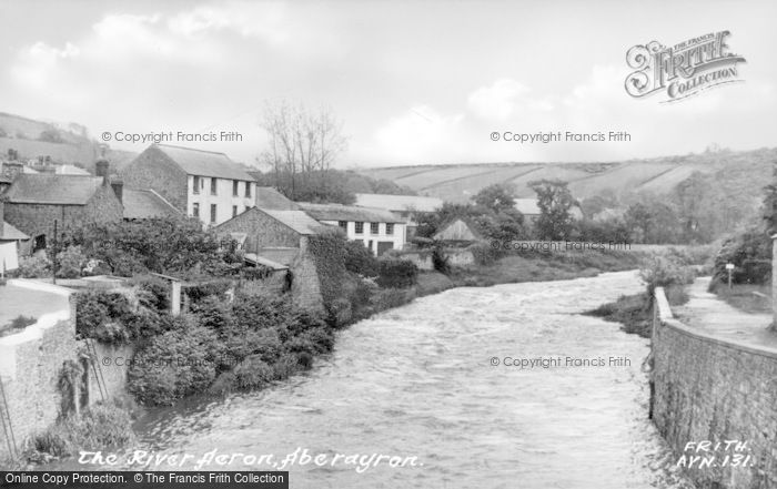 Photo of Aberaeron, River Aeron c.1955