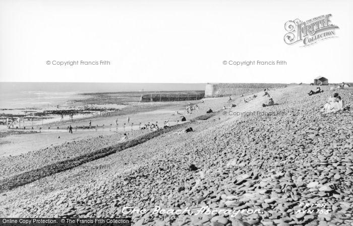 Photo of Aberaeron, The Beach c.1955