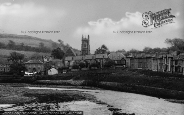 Photo of Aberaeron, The Church From The Harbour c.1955