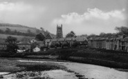 Aberaeron, The Church From The Harbour c.1955
