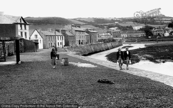 Photo of Aberaeron, The Harbour Wall c.1955
