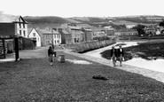 Aberaeron, The Harbour Wall c.1955