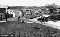 Aberaeron, The Harbour Wall c.1955