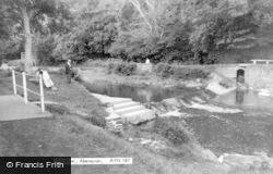 Aberaeron, The River c.1955