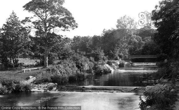 Aberaeron, The Waterfalls And Lover's Bridge c.1955