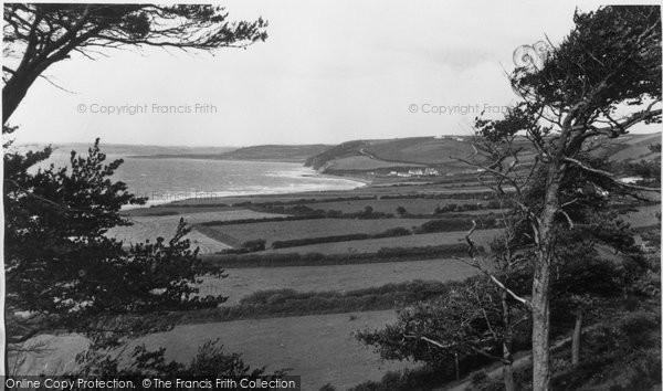 Aberaeron, View Of The Bay Towards Aberarth c.1955