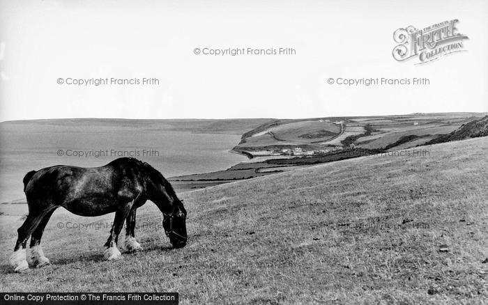 Photo of Aberaeron, View Towards Aberarth c.1955