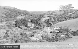 Aberaeron, View Towards Llanerchaeron c.1955