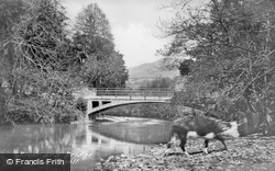 River And Bridge c.1955, Aberangell