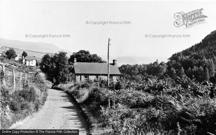 Photo of Aberangell, Village Approach c.1955