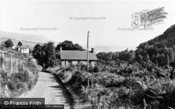 Aberangell, Village Approach c.1955