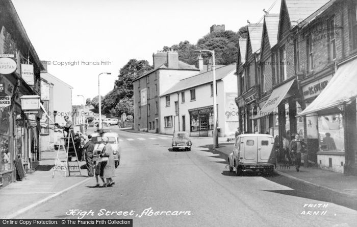 Photo of Abercarn, High Street c.1955