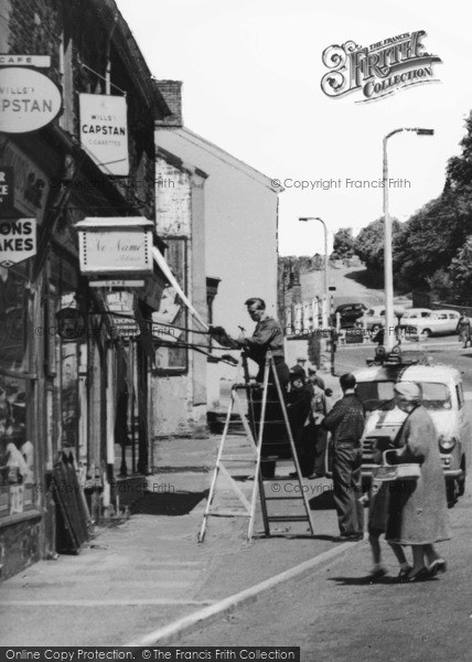 Photo of Abercarn, Workers And Shoppers c.1955