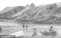 Abercastle, On The Beach c.1955