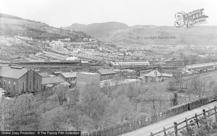 Photo of Abercynon, General View From The South c.1955