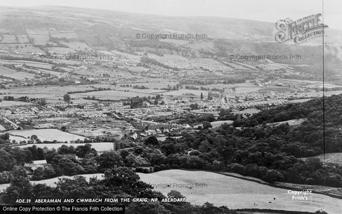 Photo of Aberdare, Aberaman And Cwmbach From The Craig c.1960
