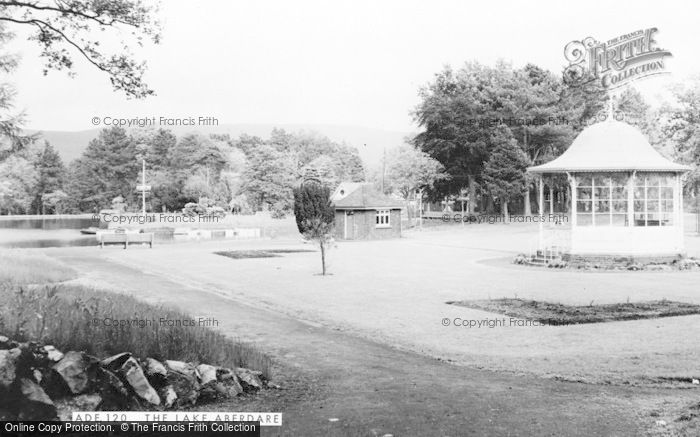 Photo of Aberdare, Bandstand And Lake c.1965