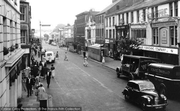 Photo of Aberdare, Cardiff Street 1959