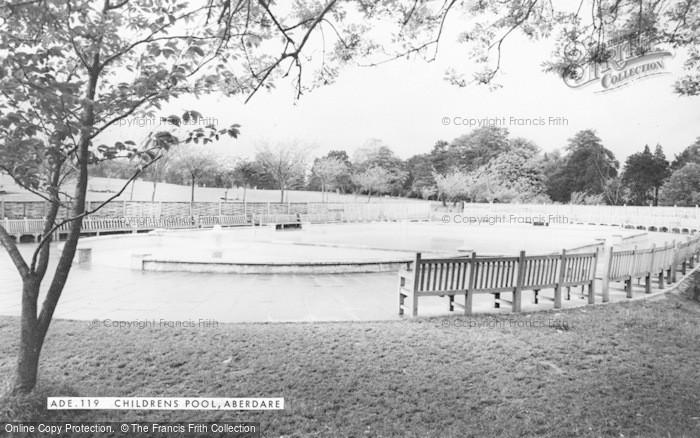 Photo of Aberdare, Children's Pool c.1965