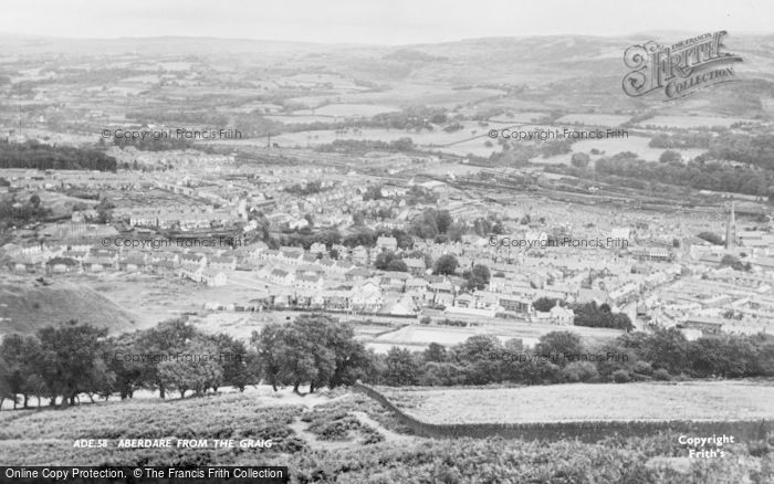 Photo of Aberdare, From The Craig c.1960