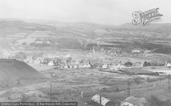Photo of Aberdare, General View And St Elvan's Church c.1955