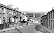 Aberdare, Monk Street and St Elvan's Church c1955