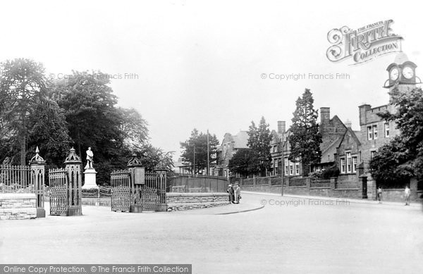 Photo of Aberdare, Park Entrance And Boys' County School 1937