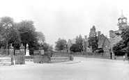 Aberdare, Park entrance and Boy's County School 1937