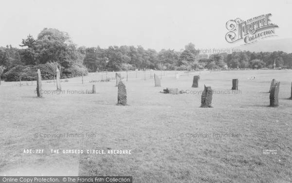 Photo of Aberdare, Park, Gorsedd Circle c.1960
