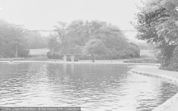 Photo of Aberdare, Park Lake c.1955