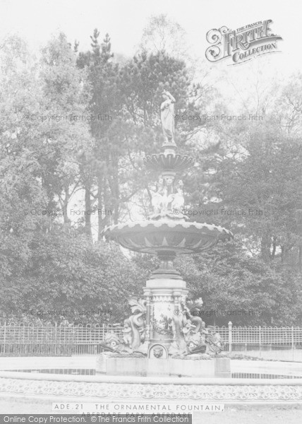 Photo of Aberdare, Park, The Fountain c.1955