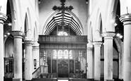 Aberdare, St Elvan's Church Interior c.1955