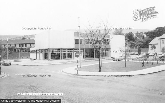 Photo of Aberdare, The Library c.1965