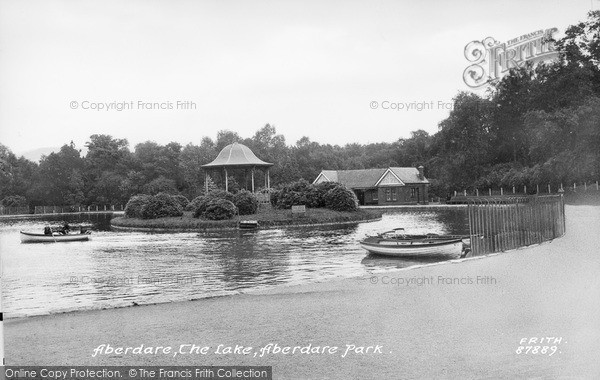Photo of Aberdare, The Park Lake 1937