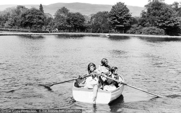 Photo of Aberdare, The Park Lake c.1955