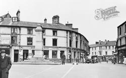 Aberdare, Victoria Square And War Memorial c.1955