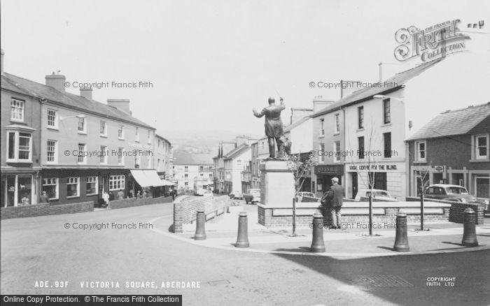 Photo of Aberdare, Victoria Square c.1965
