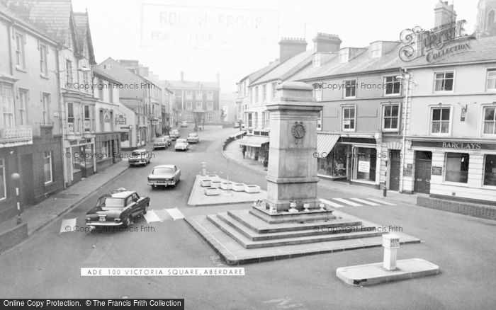 Photo of Aberdare, Victoria Square c.1965