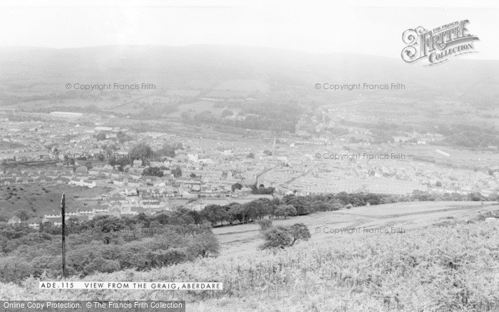 Photo of Aberdare, View From The Craig c.1965