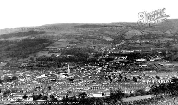 Aberdare, view from top of Craig c1960