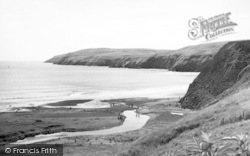 Aberdaron, Braich Y Pwll From Pensarn Hill c.1960