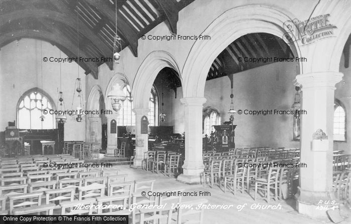 Photo of Aberdaron, Church Interior c.1935