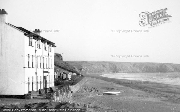 Photo of Aberdaron, Hotel And Beach c.1936