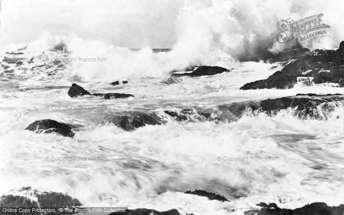 Photo of Aberdaron, Rough Sea c.1960